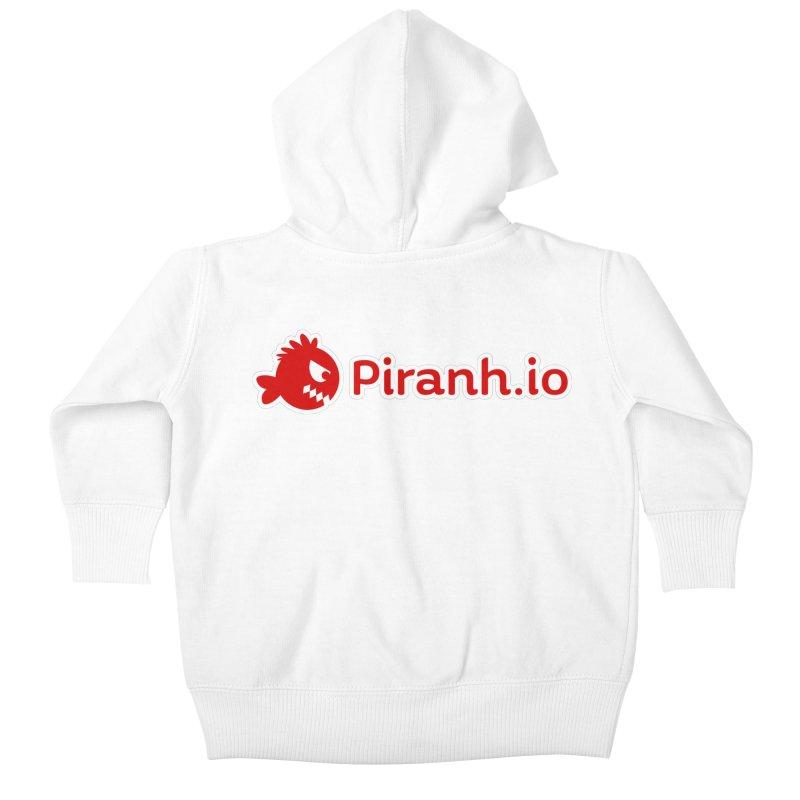 Piranh.io logo Kids Baby Zip-Up Hoody by Kiemura Merchandise