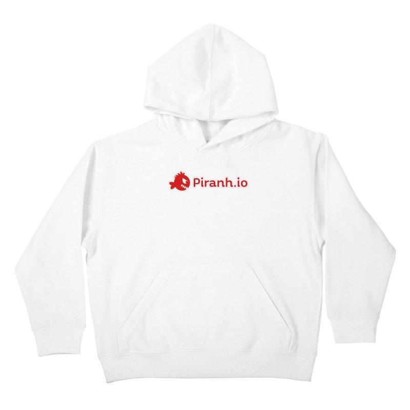 Piranh.io logo Kids Pullover Hoody by Kiemura Merchandise