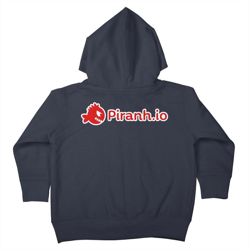 Piranh.io logo Kids Toddler Zip-Up Hoody by Kiemura Merchandise