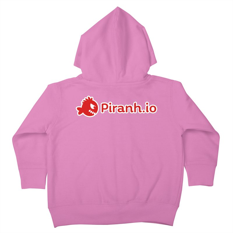 Piranh.io logo Kids Toddler Zip-Up Hoody by Kiemura Merchandise