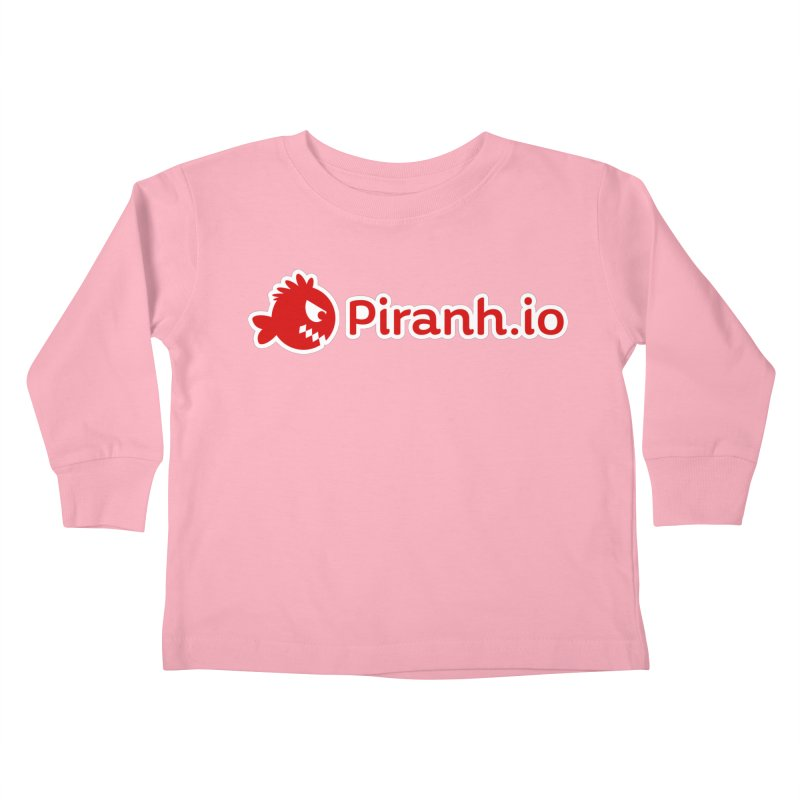 Piranh.io logo Kids Toddler Longsleeve T-Shirt by Kiemura Merchandise