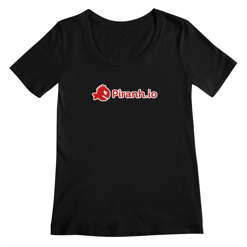 Piranh.io logo Women's Scoopneck by Kiemura Merchandise