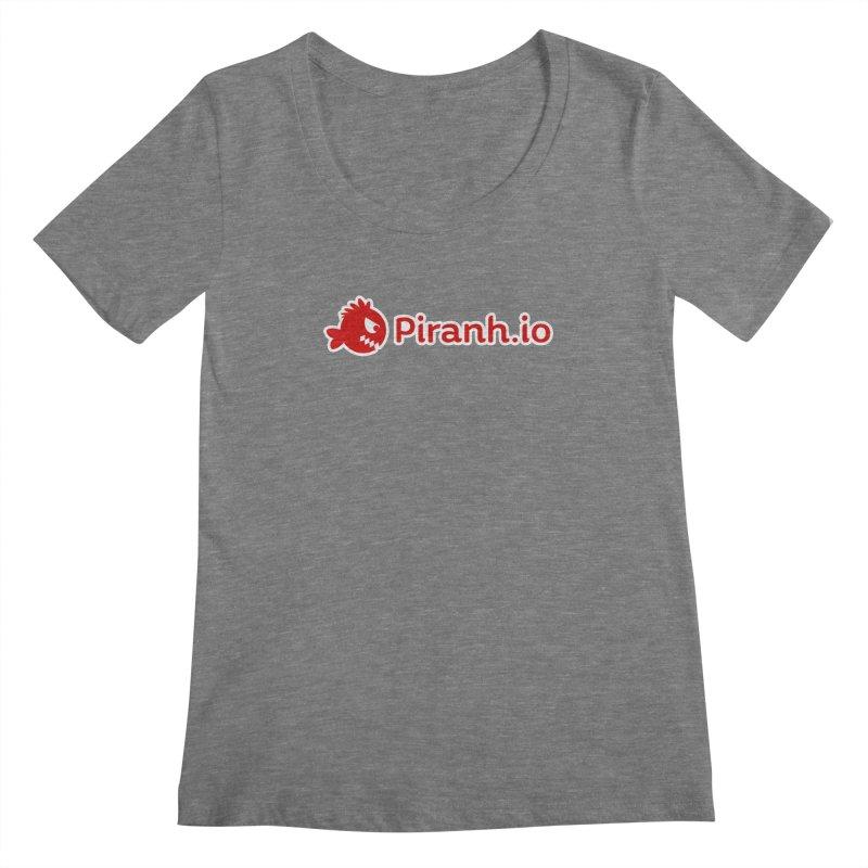 Piranh.io logo Women's Scoopneck by Kiemura Merchandise
