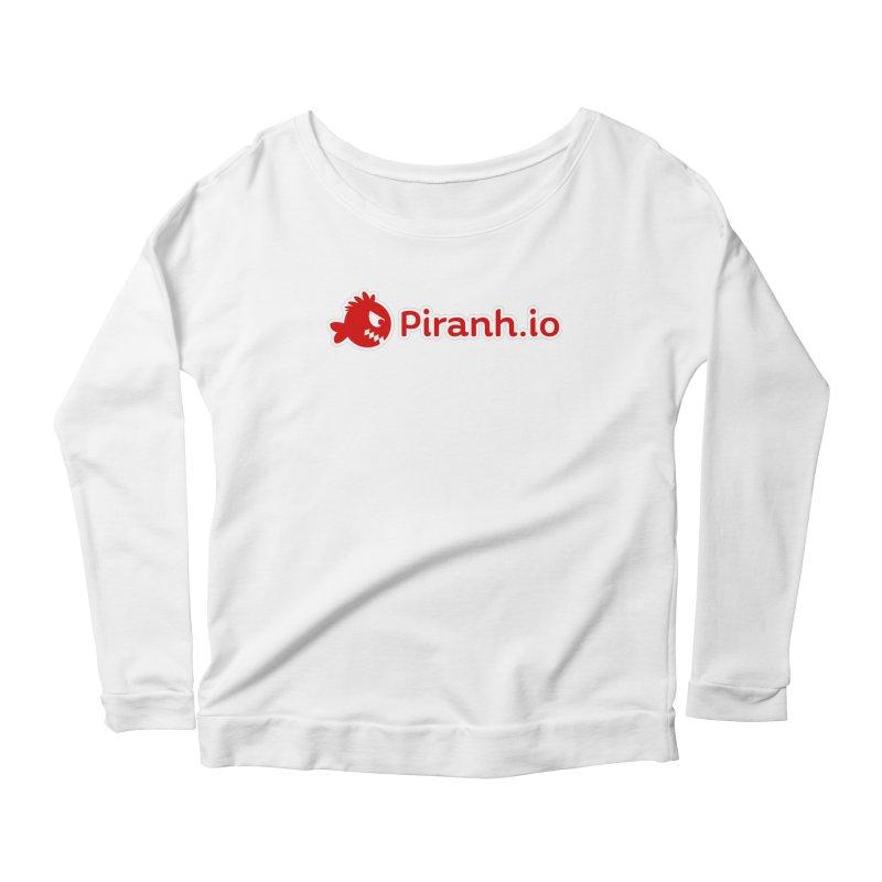 Piranh.io logo Women's Scoop Neck Longsleeve T-Shirt by Kiemura Merchandise