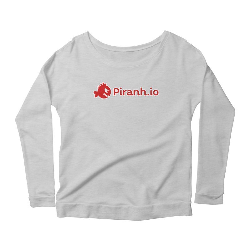 Piranh.io logo Women's Scoop Neck Longsleeve T-Shirt by Kiemura Merchandise