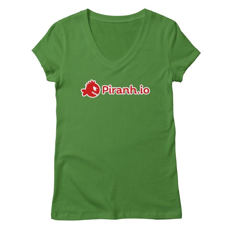 Piranh.io logo Women's V-Neck by Kiemura Merchandise