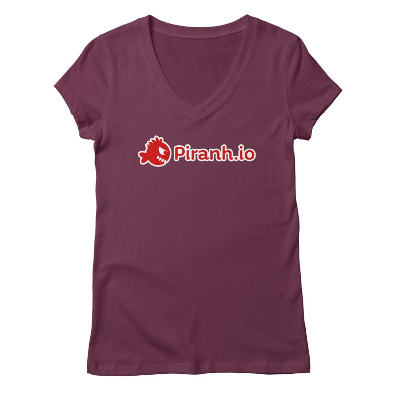 Piranh.io logo Women's V-Neck by Kiemura Merchandise