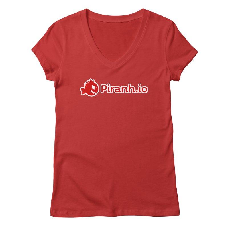 Piranh.io logo Women's Regular V-Neck by Kiemura Merchandise