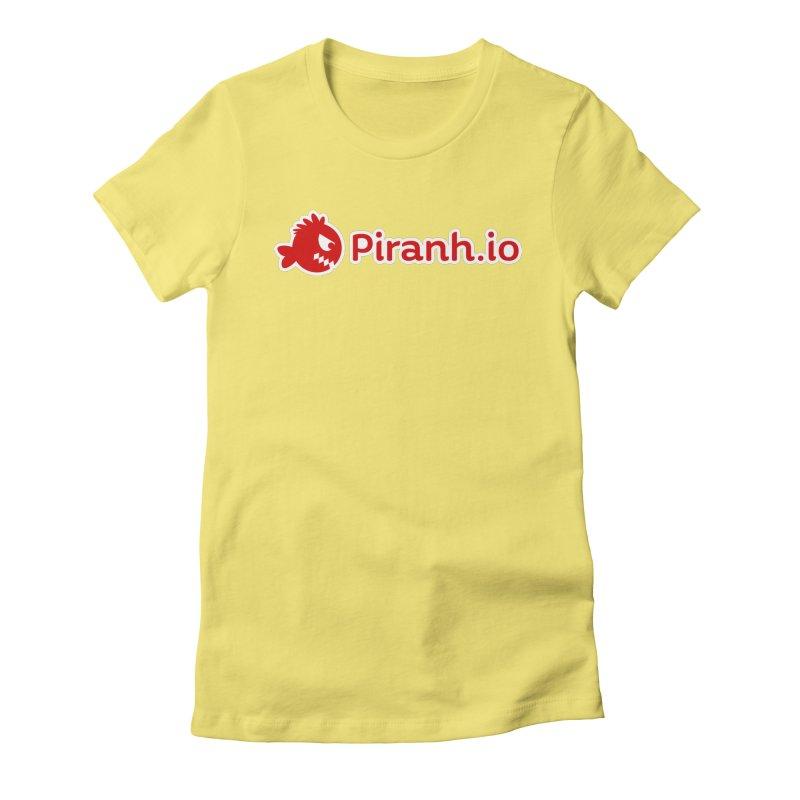Piranh.io logo Women's Fitted T-Shirt by Kiemura Merchandise