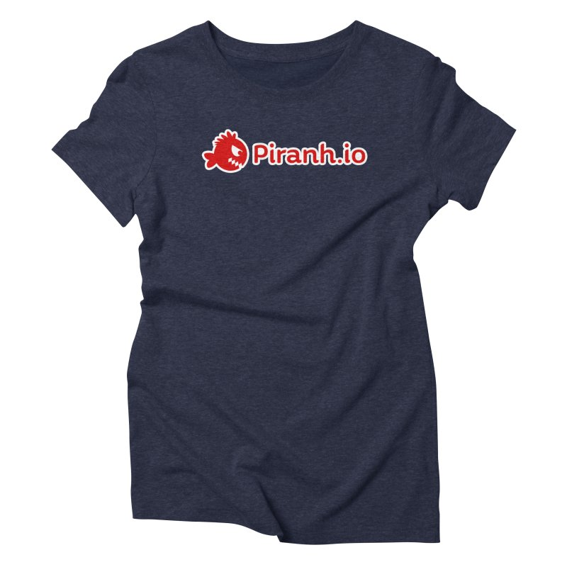 Piranh.io logo Women's Triblend T-shirt by Kiemura Merchandise