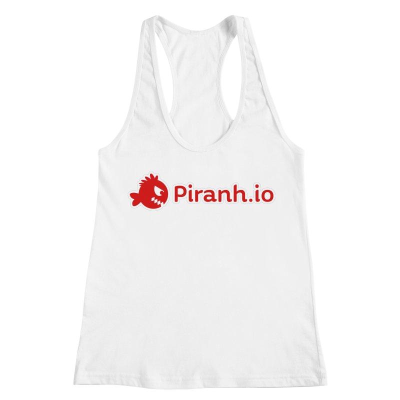 Piranh.io logo Women's Racerback Tank by Kiemura Merchandise