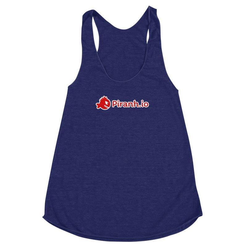 Piranh.io logo Women's Racerback Triblend Tank by Kiemura Merchandise