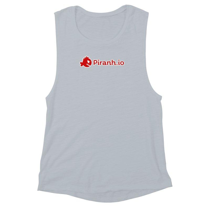 Piranh.io logo Women's Muscle Tank by Kiemura Merchandise