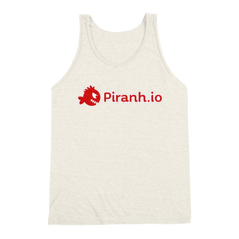 Piranh.io logo Men's Triblend Tank by Kiemura Merchandise