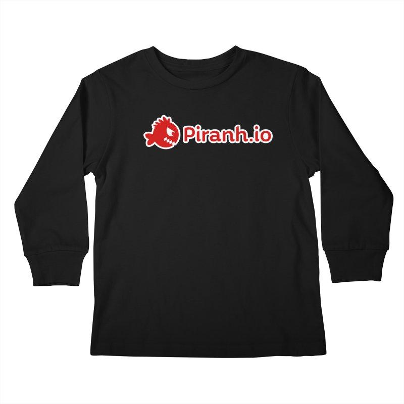 Piranh.io logo Kids Longsleeve T-Shirt by Kiemura Merchandise