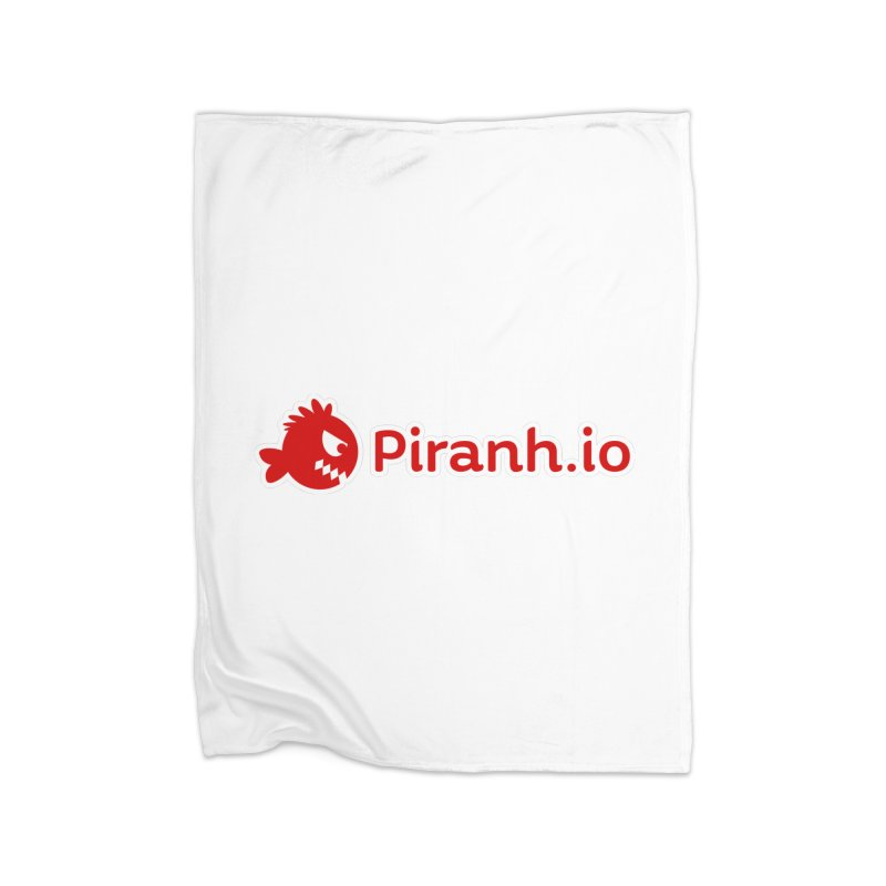Piranh.io logo Home Blanket by Kiemura Merchandise