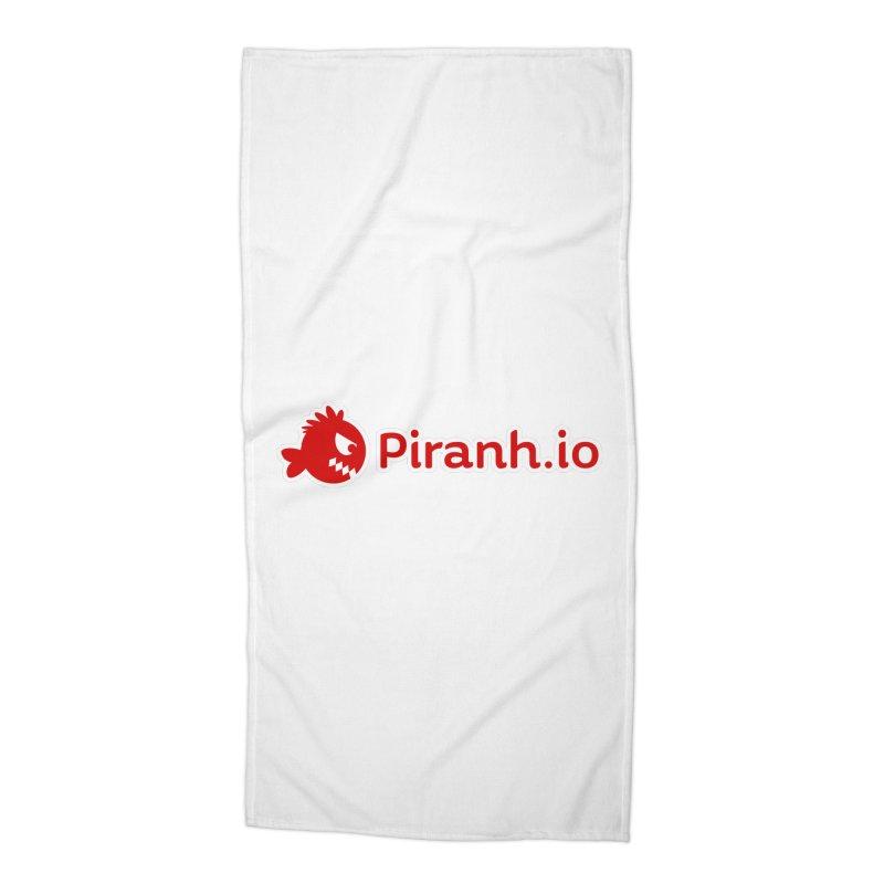 Piranh.io logo Accessories Beach Towel by Kiemura Merchandise