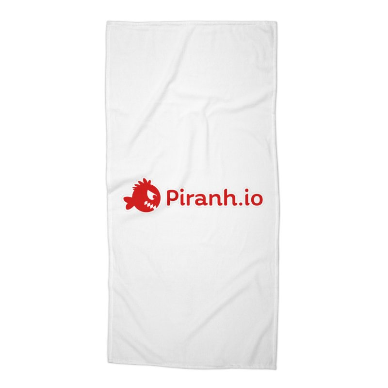 Piranh.io logo Accessories Beach Towel by Kiemura Merchandise