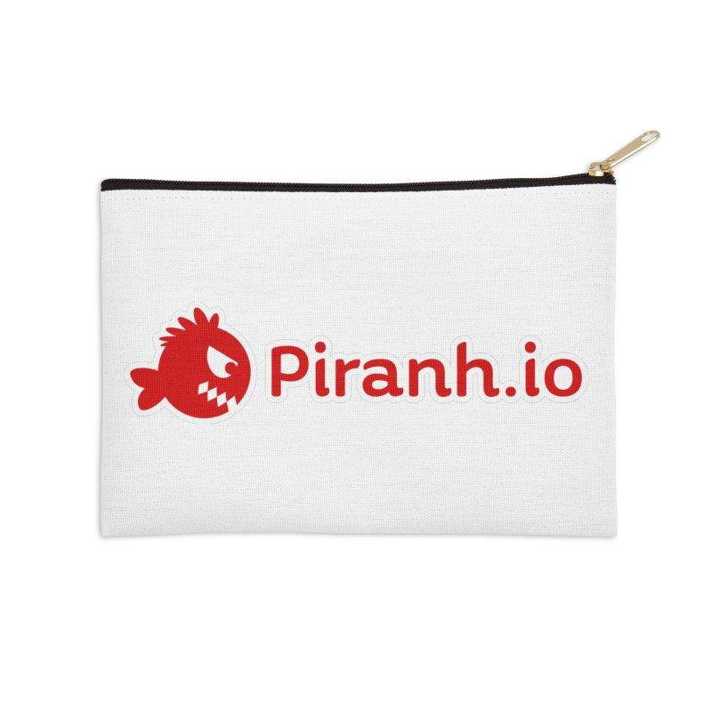 Piranh.io logo Accessories Zip Pouch by Kiemura Merchandise