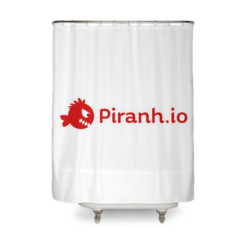 Piranh.io logo Home Shower Curtain by Kiemura Merchandise