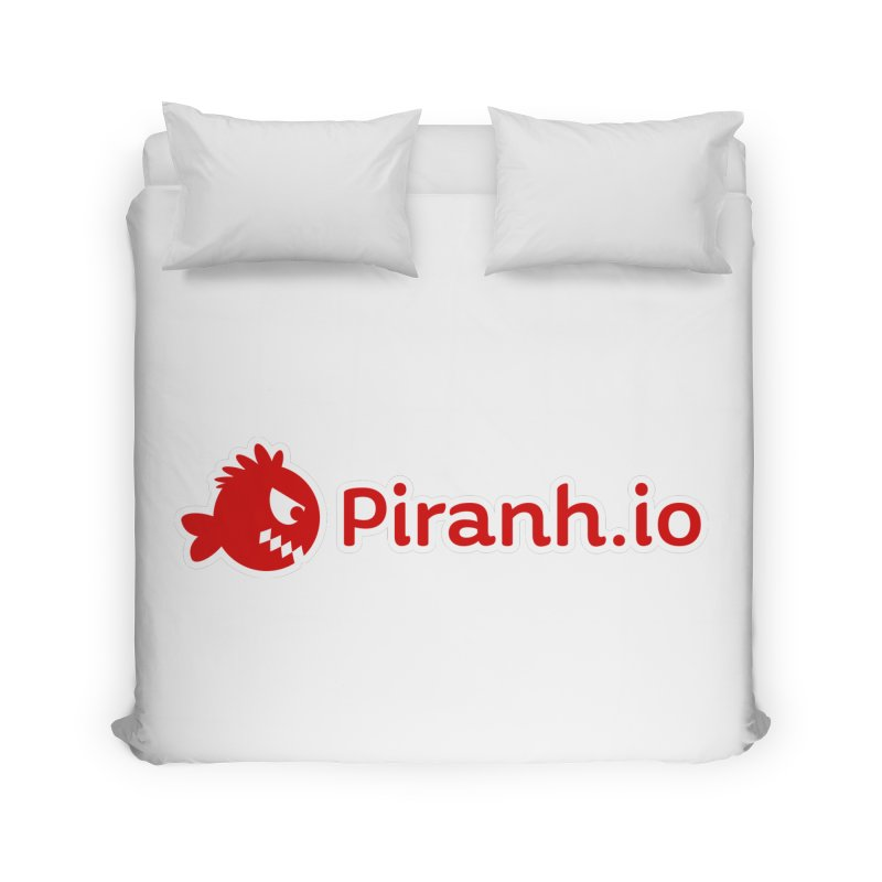 Piranh.io logo Home Duvet by Kiemura Merchandise