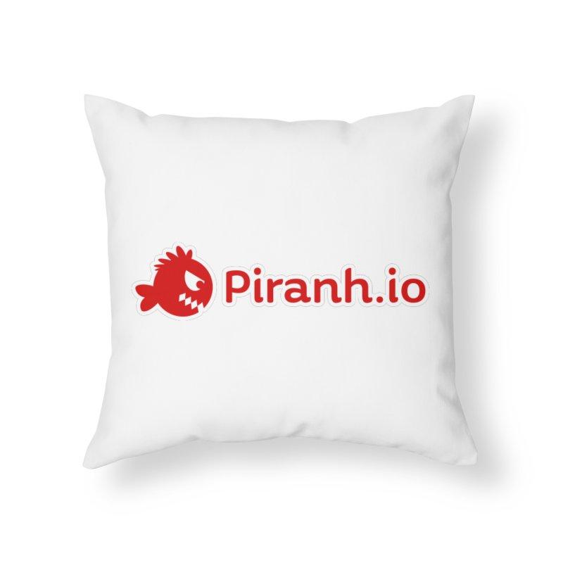 Piranh.io logo Home Throw Pillow by Kiemura Merchandise