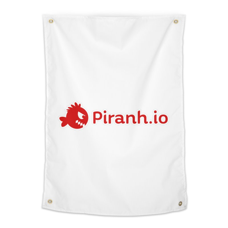 Piranh.io logo Home Tapestry by Kiemura Merchandise