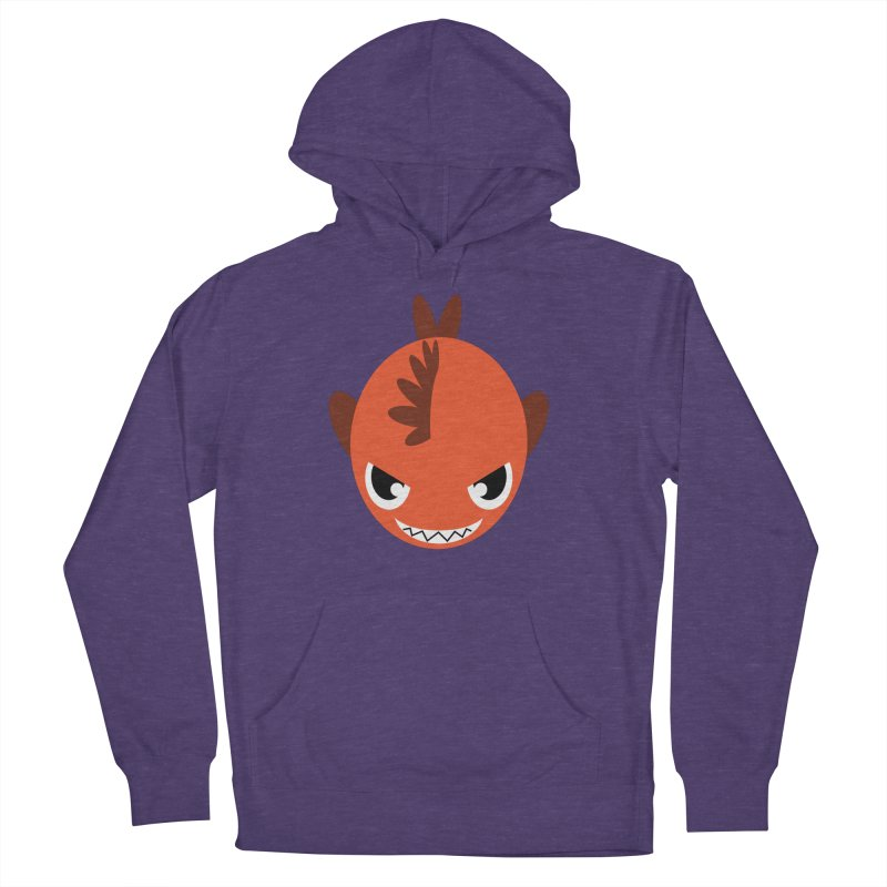 Orange piranha Women's Pullover Hoody by Kiemura Merchandise