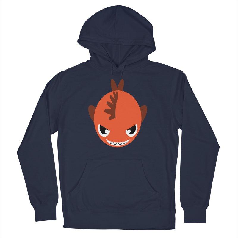 Orange piranha Women's French Terry Pullover Hoody by Kiemura Merchandise