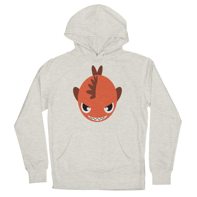 Orange piranha Men's Pullover Hoody by Kiemura Merchandise