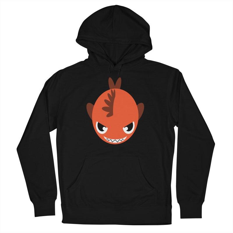 Orange piranha Men's French Terry Pullover Hoody by Kiemura Merchandise