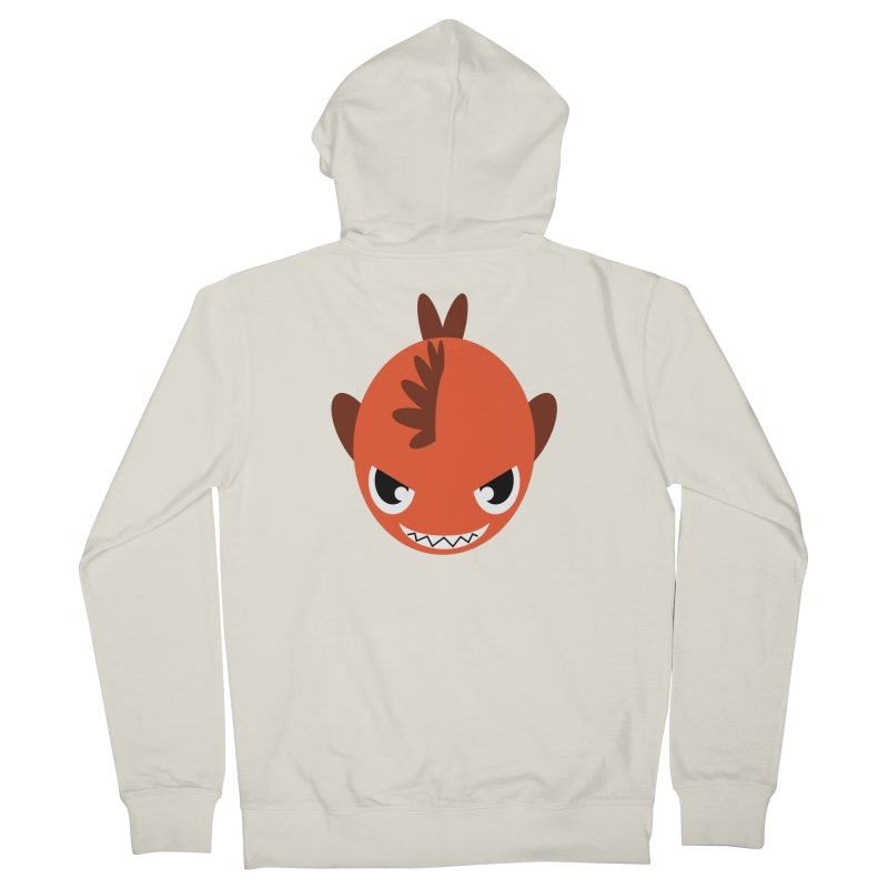 Orange piranha Women's Zip-Up Hoody by Kiemura Merchandise