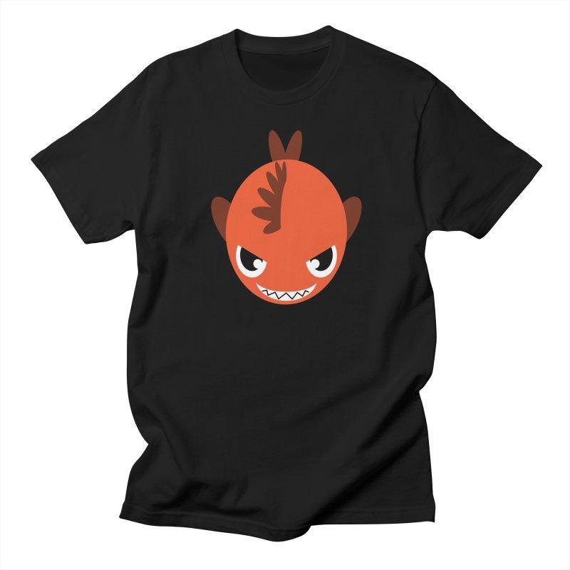 Orange piranha Men's Regular T-Shirt by Kiemura Merchandise