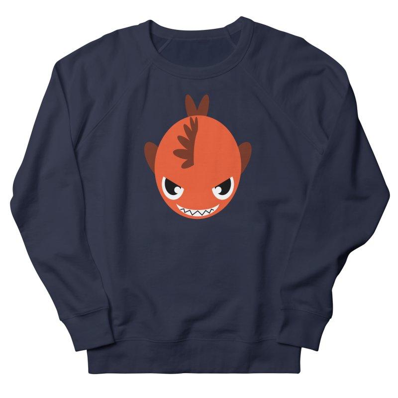 Orange piranha Women's French Terry Sweatshirt by Kiemura Merchandise