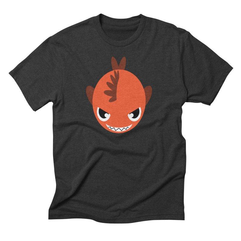 Orange piranha Men's Triblend T-Shirt by Kiemura Merchandise