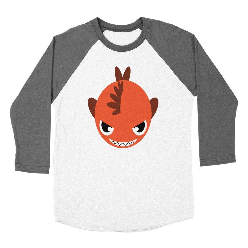 Orange piranha Women's Baseball Triblend T-Shirt by Kiemura Merchandise