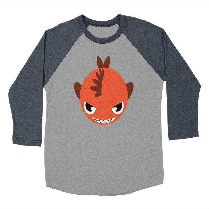 Orange piranha Women's Baseball Triblend Longsleeve T-Shirt by Kiemura Merchandise