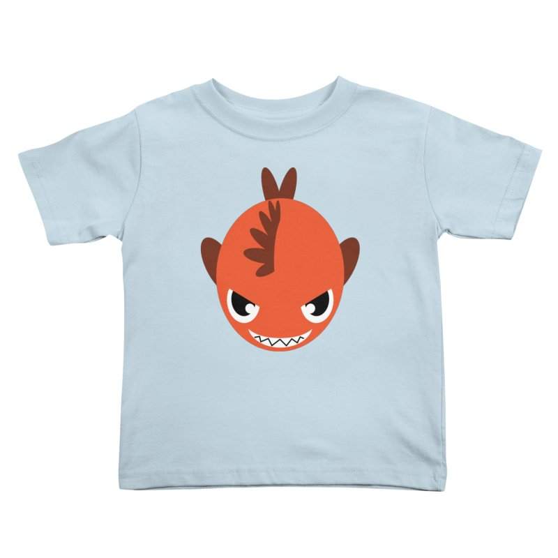 Orange piranha Kids Toddler T-Shirt by Kiemura Merchandise