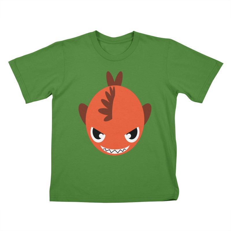 Orange piranha Kids T-shirt by Kiemura Merchandise