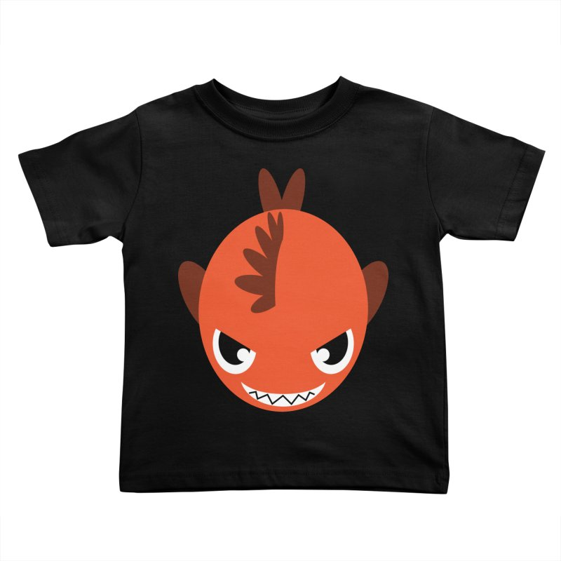 Orange piranha Kids Toddler T-Shirt by Kiemura Merchandise