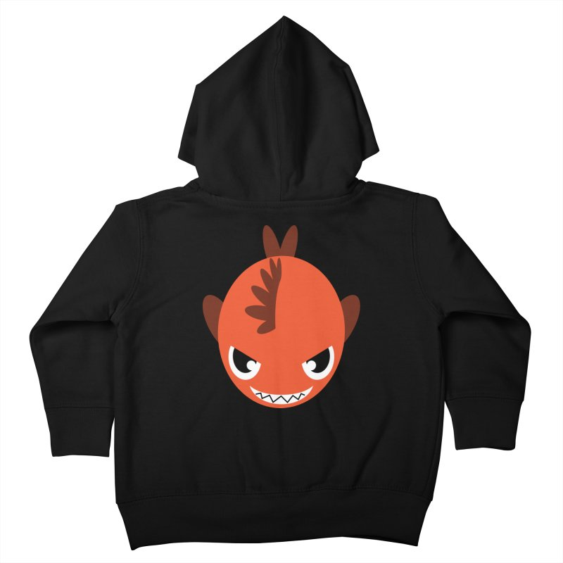 Orange piranha Kids Toddler Zip-Up Hoody by Kiemura Merchandise