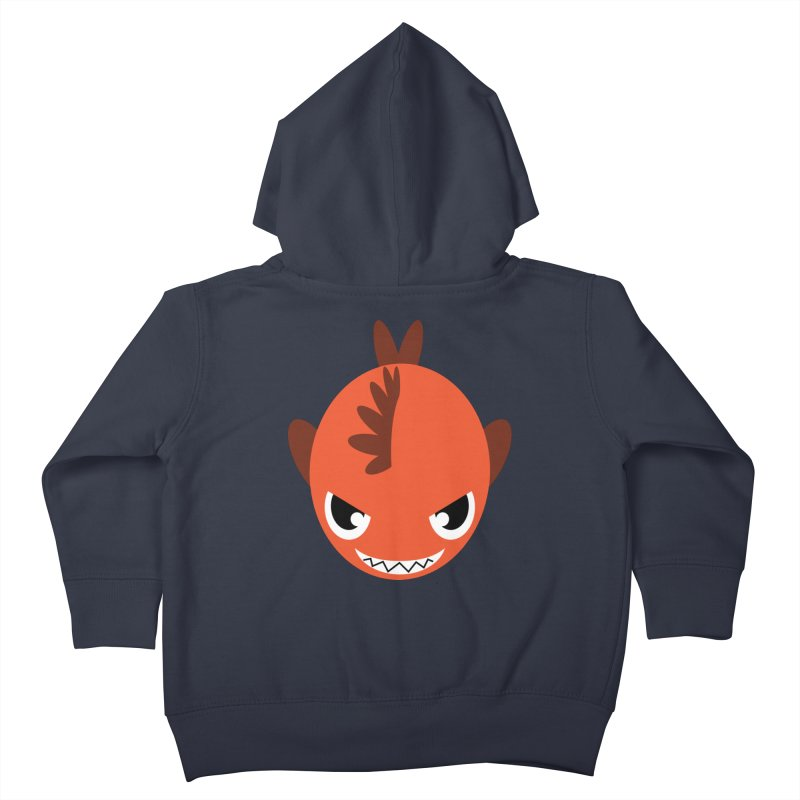 Orange piranha Kids Toddler Zip-Up Hoody by Kiemura Merchandise