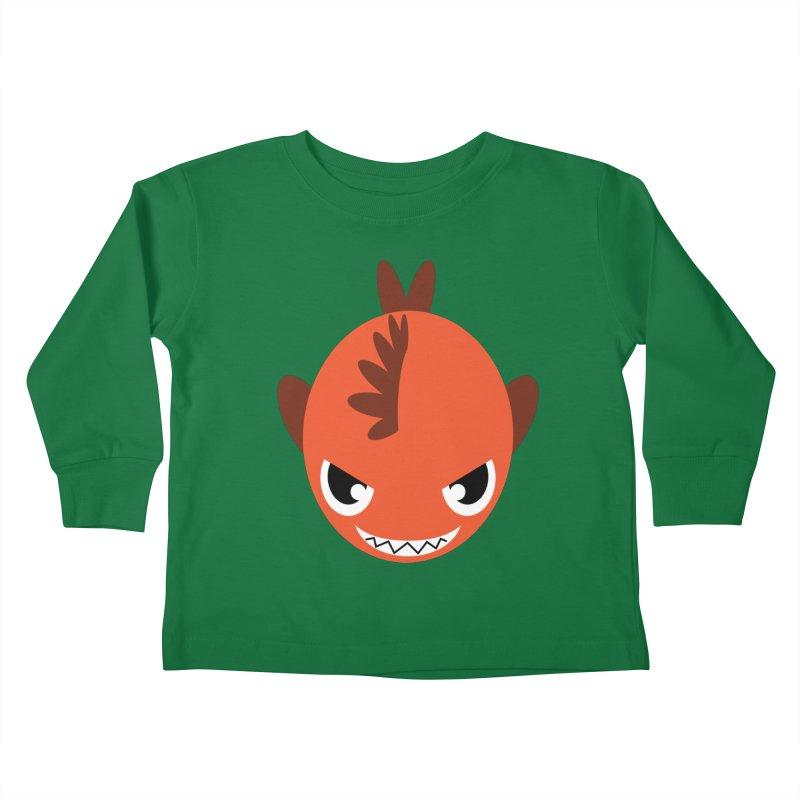 Orange piranha Kids Toddler Longsleeve T-Shirt by Kiemura Merchandise