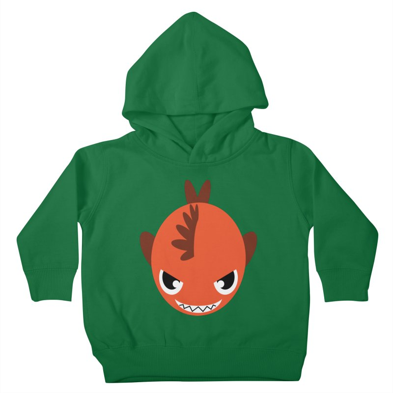 Orange piranha Kids Toddler Pullover Hoody by Kiemura Merchandise