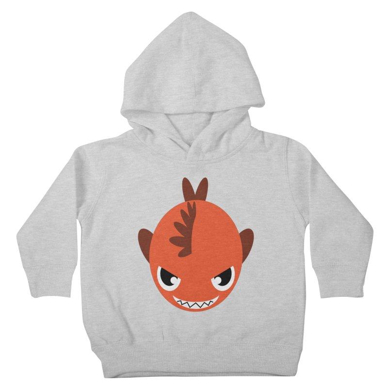 Orange piranha Kids Toddler Pullover Hoody by Kiemura Merchandise