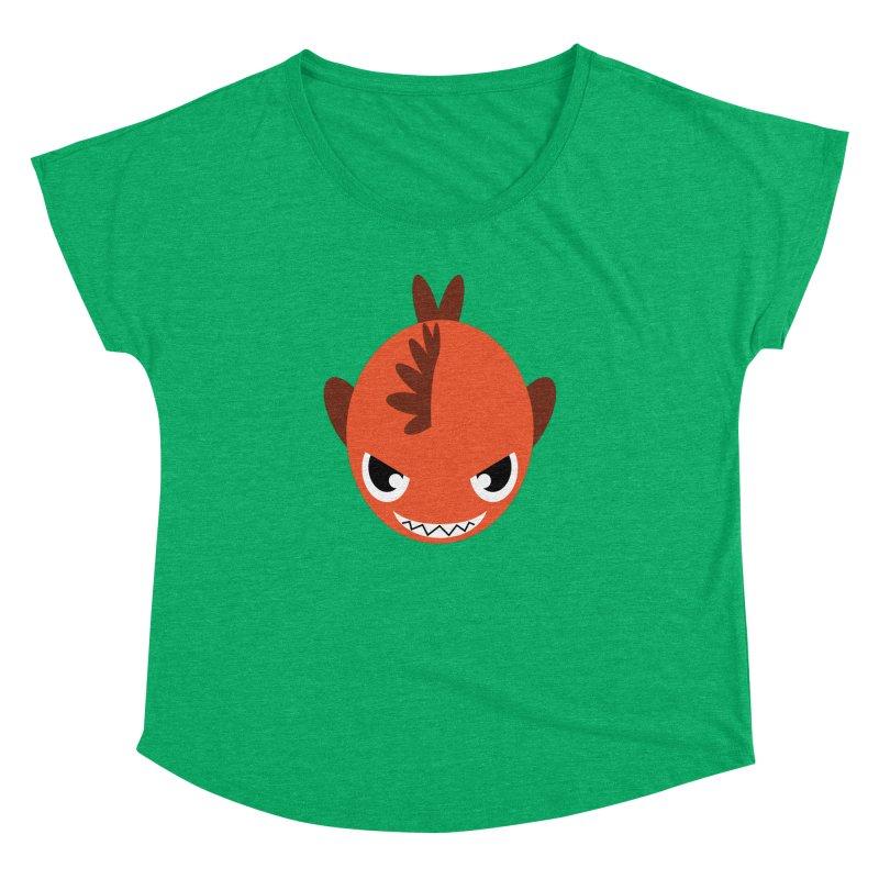 Orange piranha Women's Dolman by Kiemura Merchandise