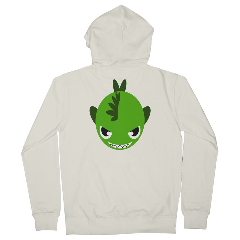 Green piranha Women's Zip-Up Hoody by Kiemura Merchandise