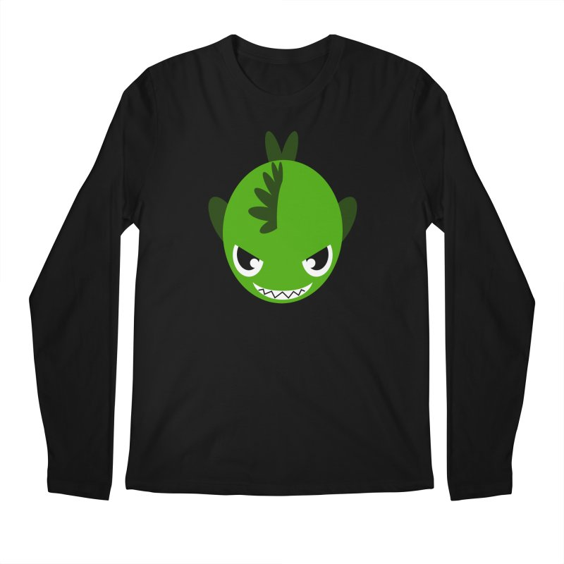 Green piranha Men's Longsleeve T-Shirt by Kiemura Merchandise