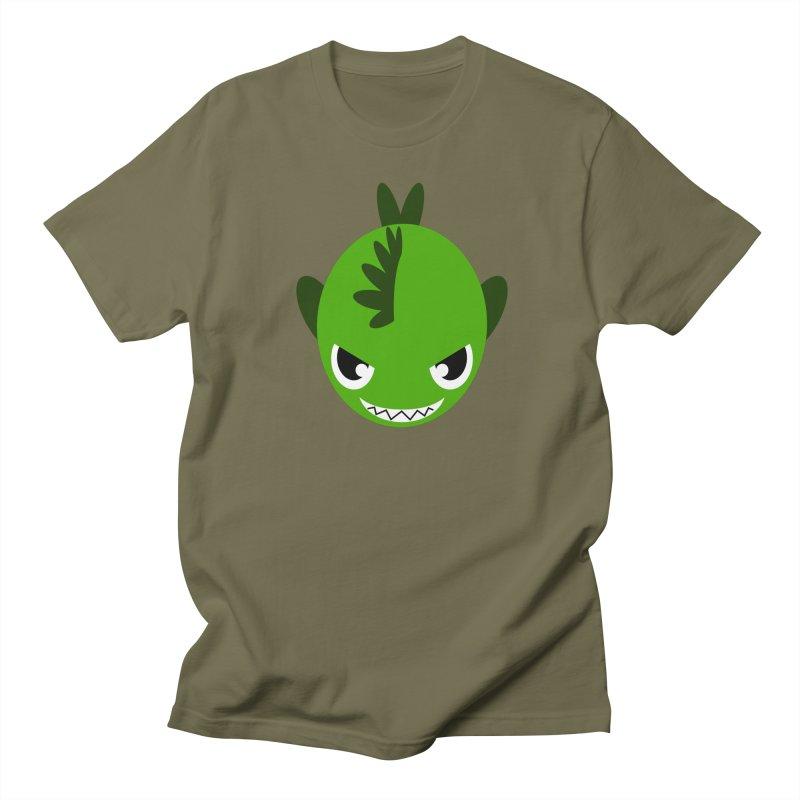 Green piranha Men's T-shirt by Kiemura Merchandise