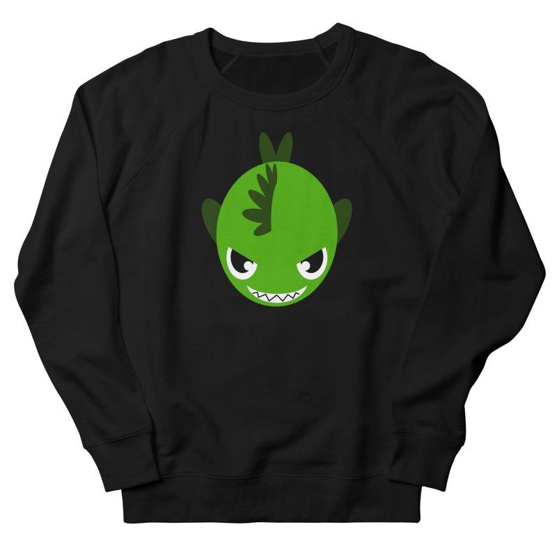 Green piranha Women's French Terry Sweatshirt by Kiemura Merchandise